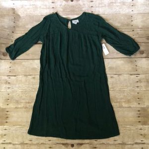 NWT girls forest green Old Navy dress size L 10-12